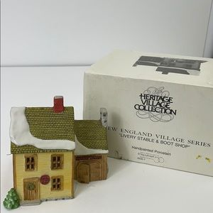 """DEPT 56 """"LIVERY STABLE & BOOT SHOP"""""""